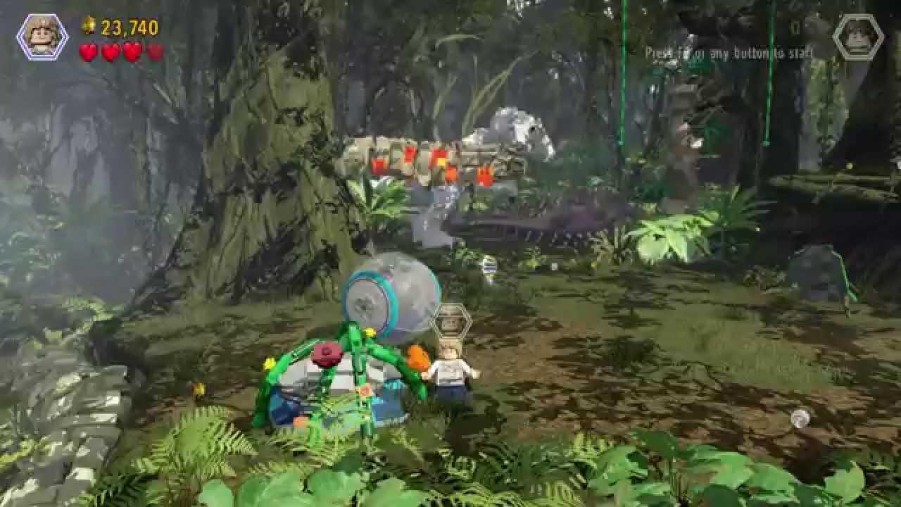 LEGO Jurassic World – Gameplay Walkthrough HD 19 (Gyrosphere Valley)