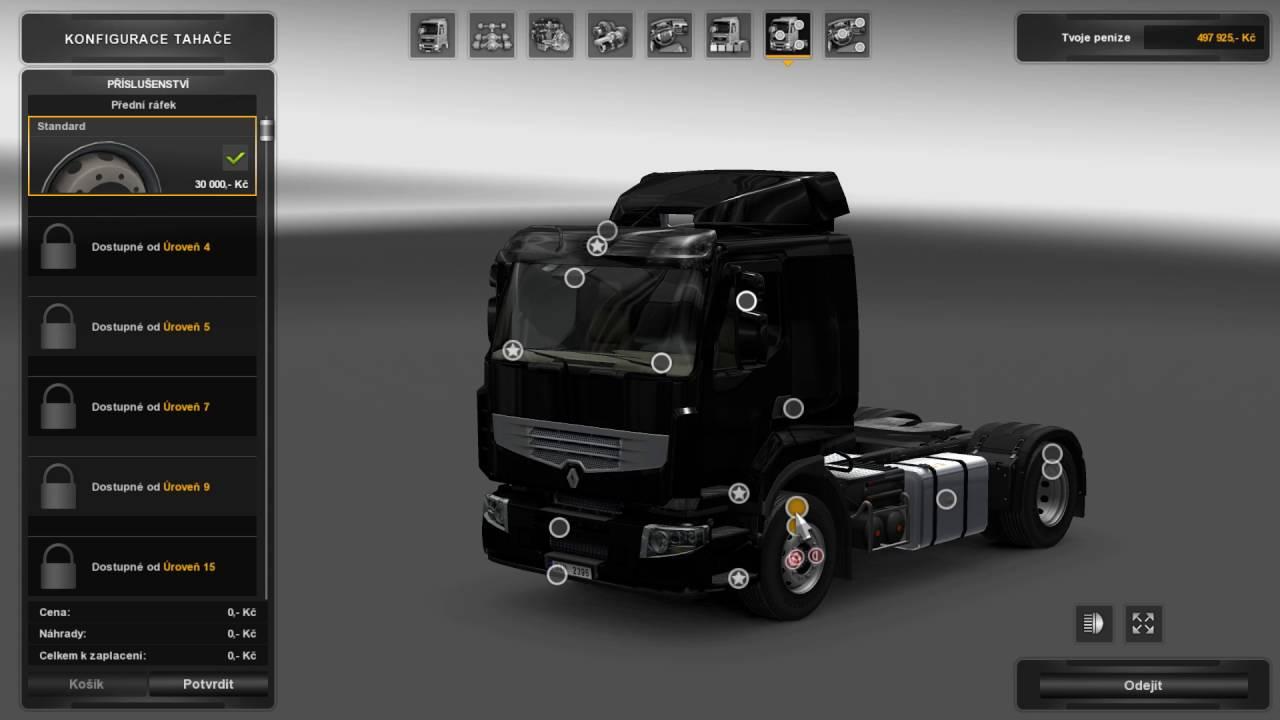 Euro Truck Simulator 2 – výběr pneumatik