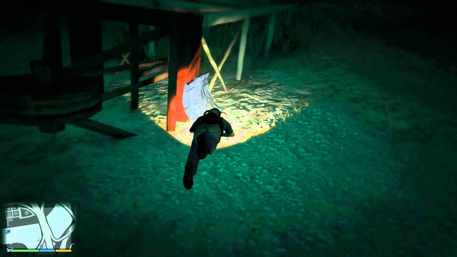 Grand Theft Auto V – hledání kousků roztříštěné ponorky #06