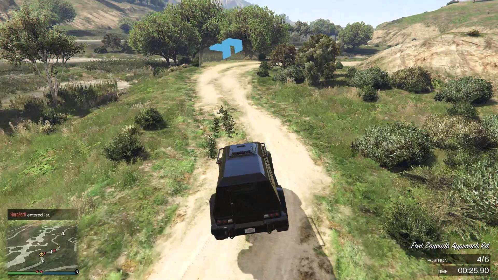 GTA V – online – 3. závod