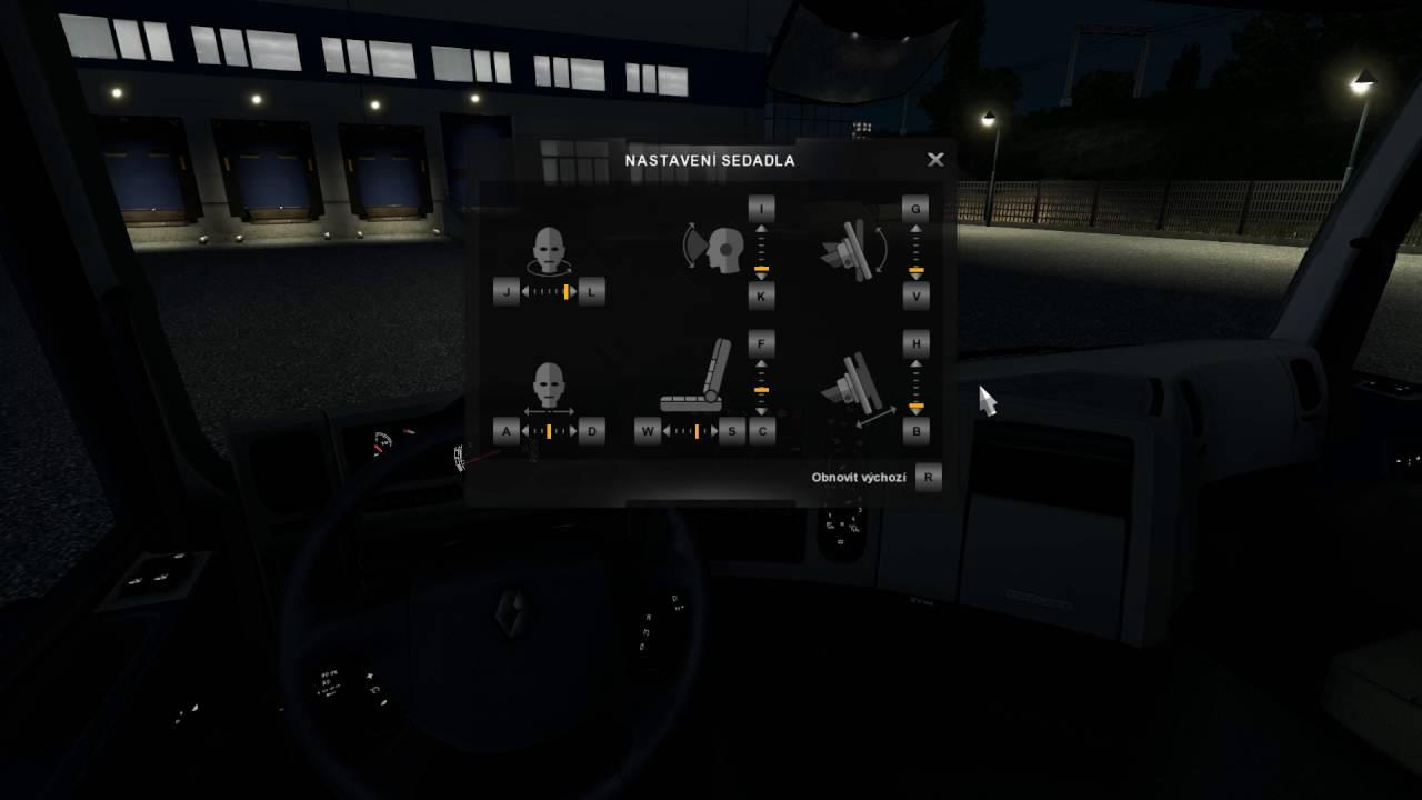 Euro Truck Simulator 2 – nastavení kabiny