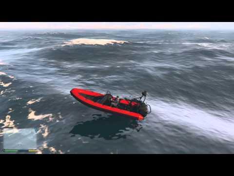 Grand Theft Auto V – hledání kousků roztříštěné ponorky #01