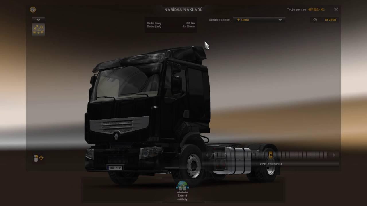 Euro Truck Simulator 2 – výběr přívěsu