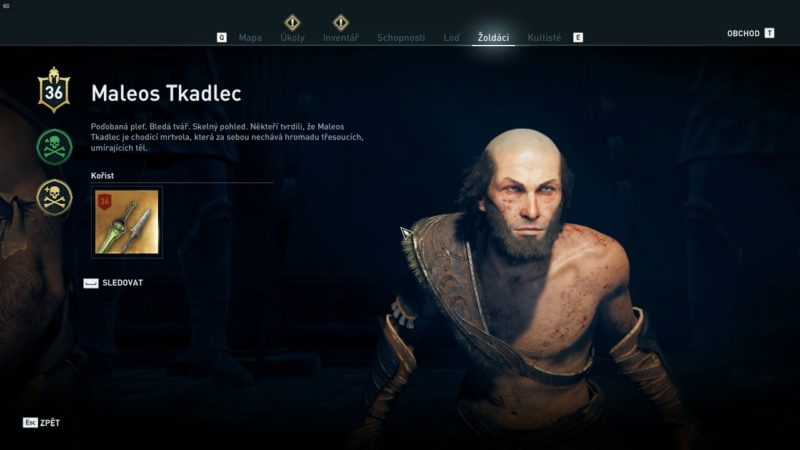 Assassin's Creed Odyssey – žoldák Maleos Tkalec